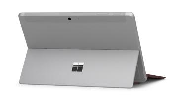 Vista del pannello posteriore di Surface Go con Surface Go Signature Type Cover