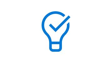 Immagine di una lampadina con un segno di spunta