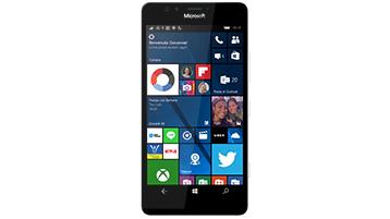 Un telefono Windows in cui è visualizzata la schermata Start
