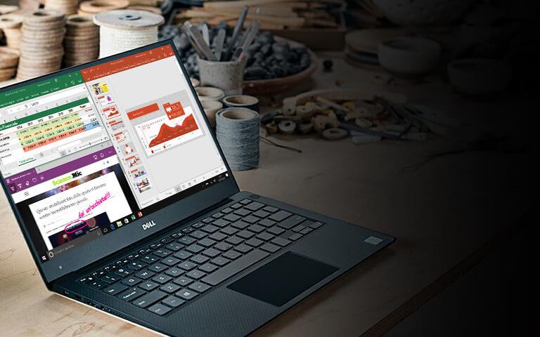Dell XPS 13 con la schermata Start di Windows 10