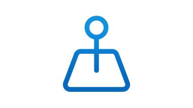 青い背景の携帯電話とピンのシンボル