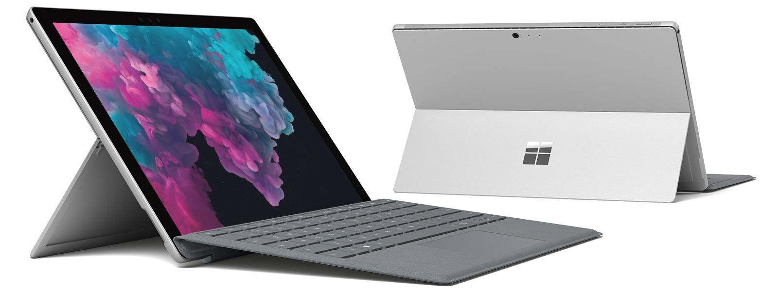 Windows 10 のデスクトップを表示する Surface Pro 6