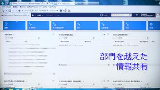 画面イメージ:営業支援システム 画面イメージ