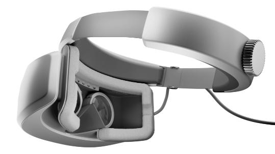 4 つのインタラクティブなホットスポットを備えた Windows Mixed Reality ヘッドセット