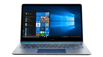 Windows 10のスタート画面が表示された2 in 1デバイス