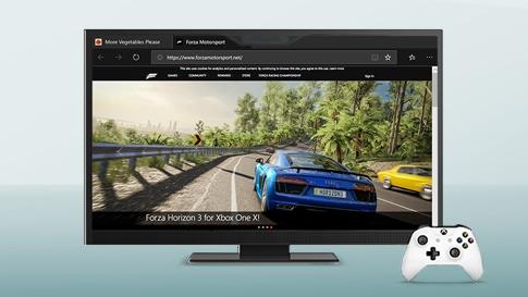 Xbox ゲームから伸びている道路を走る自動車のイメージ