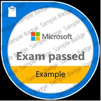 Exam example badge