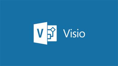 Visio のロゴ。Visio のブログにアクセスして Visio に関するニュースや情報を入手します