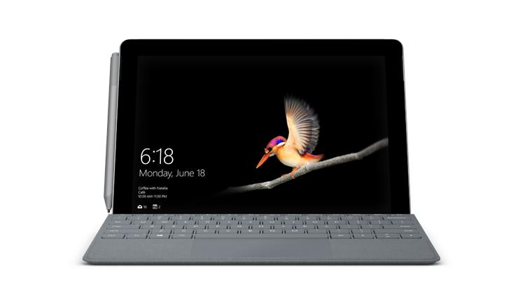 Surface Go のデバイス レンダリング