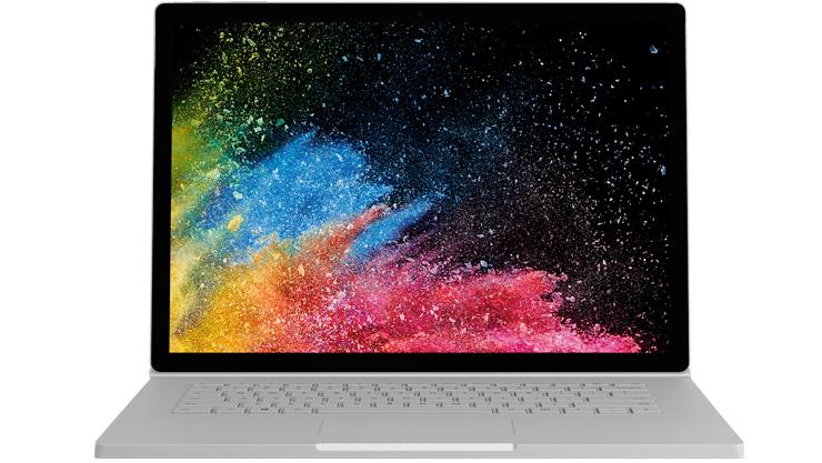 Surface Book 2 のデバイス レンダリング