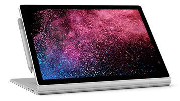 ビュー モードの Surface Book 2