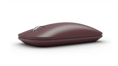 バーガンディの Surface Mobile Mouse