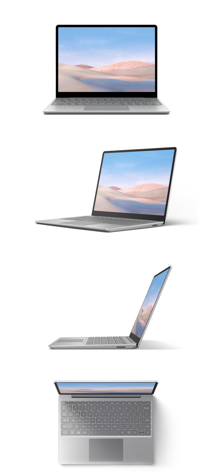 Surface Laptop Go (プラチナ) を 360 度回転