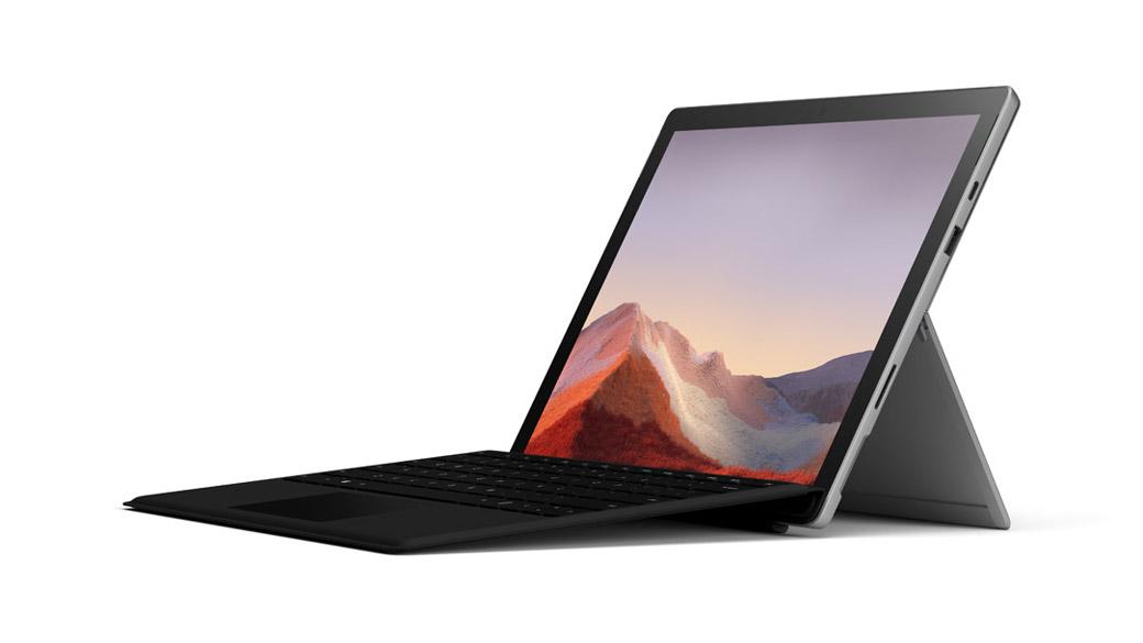 プラチナの Surface Pro 7