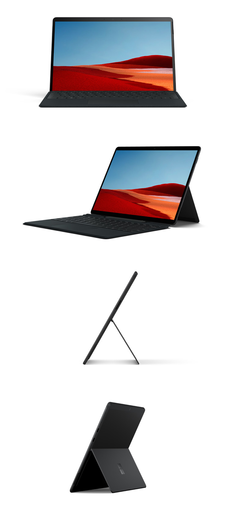Surface Pro X (ブラック) を360 度回転