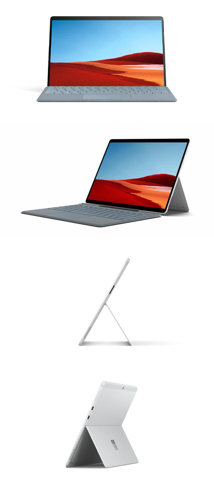 Surface Pro X (プラチナ) を360 度回転