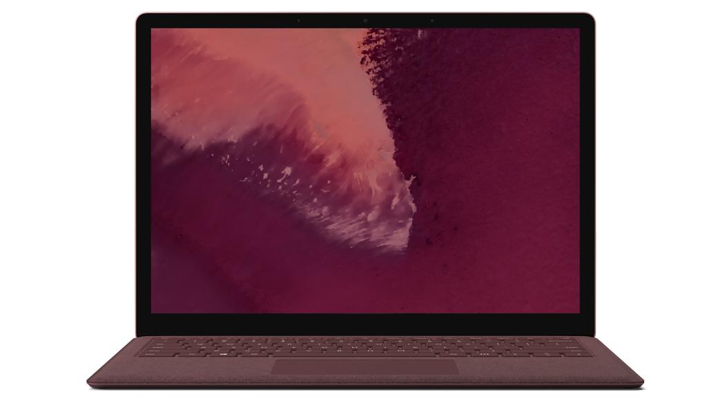 バーガンディの Surface Laptop 2