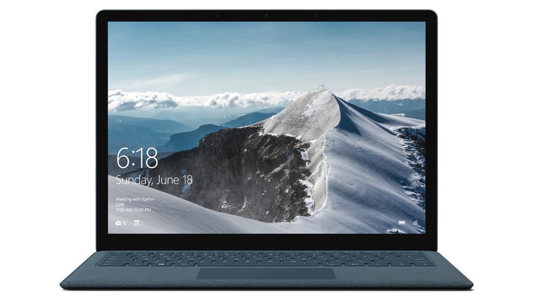 コバルト ブルーの Surface Laptop