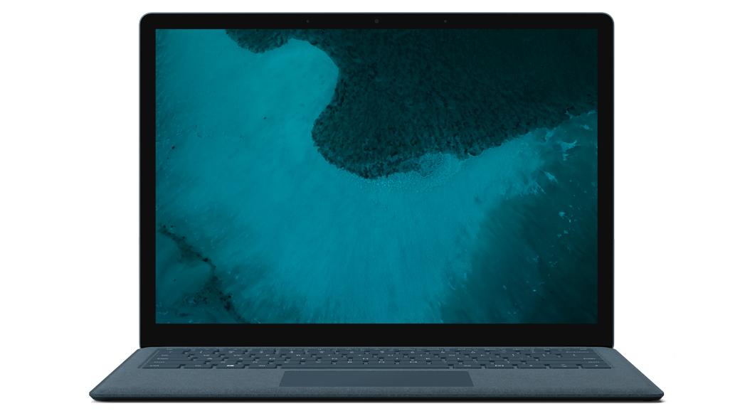 コバルト ブルーの Surface Laptop 2