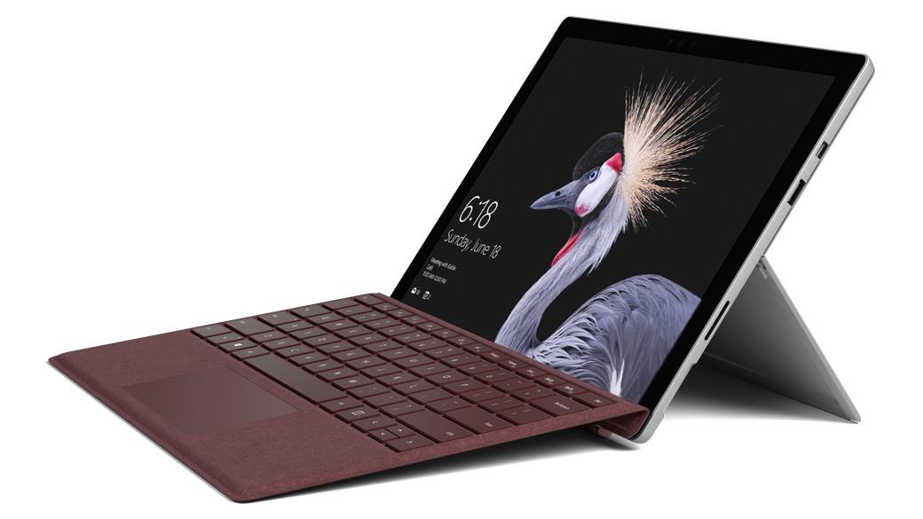 バーガンディの Surface Pro