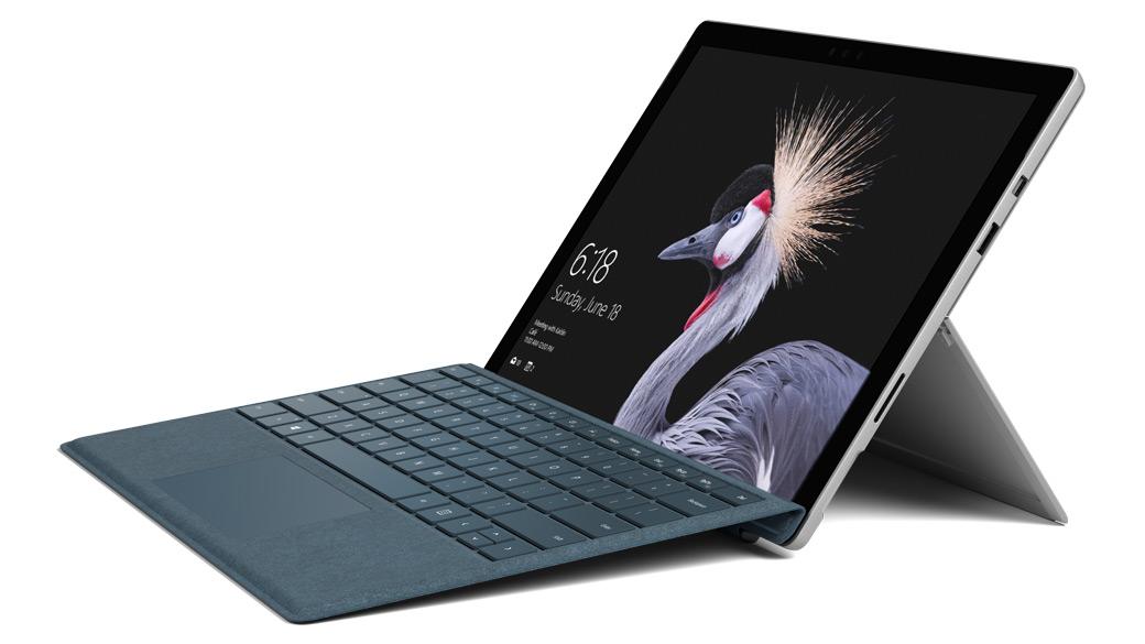 コバルト ブルーの Surface Pro