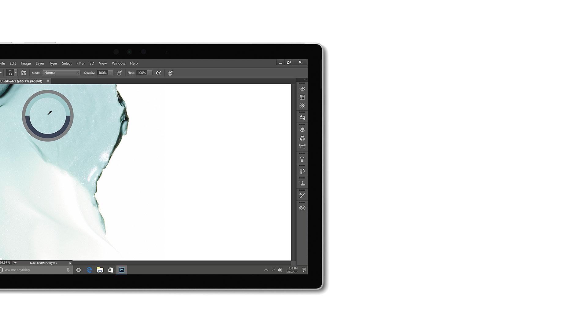 Adobe Creative Cloud のユーザー インターフェイスの画像
