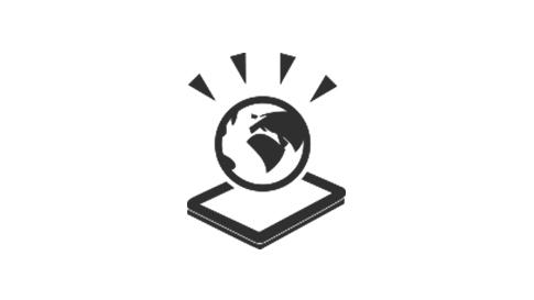 地球と Surface デバイス