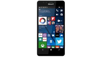 スタート画面が表示された Windows スマートフォン