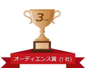 3rd オーディエンス賞 (1 社)