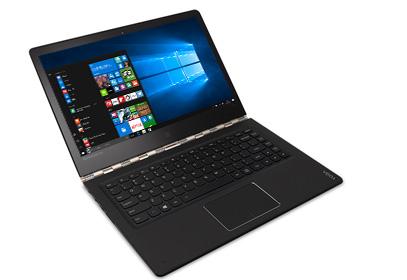 ノート PC モードの Lenovo Yoga 900