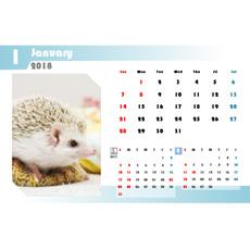 2018 年度カレンダー(ハガキサイズ・ヨコ・1 ヵ月)