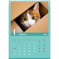 2019 年度カレンダー(A4 サイズ・タテ)