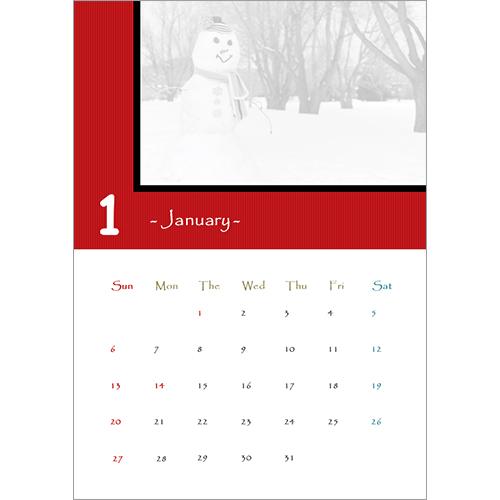 2019 年度カレンダー(ストライプ・A4 サイズ)