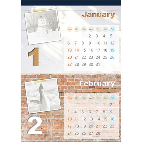 2019 年度カレンダー(ウォール・A4 サイズ)