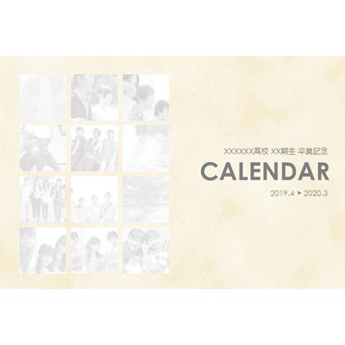 2019 年度カレンダー(4 月始まり・卒業プレゼント)