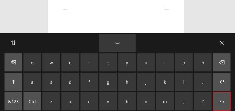 キーボード キャプチャ画像: [Fn] を選択