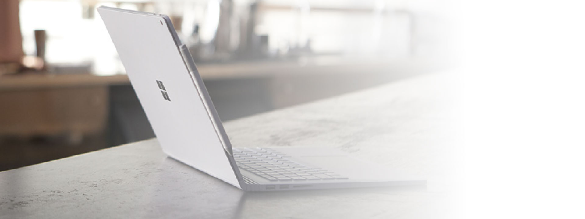 Laptop on table with windows 10