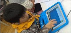 タブレットのコミュニケーション アプリ イメージ写真
