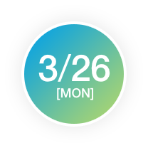 3/26[MON]