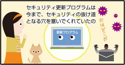 セキュリティ更新プログラムは今まで、自動でパソコン守ってくれていたの。