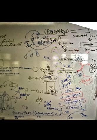 画像:ホワイトボードに文字が記載されている