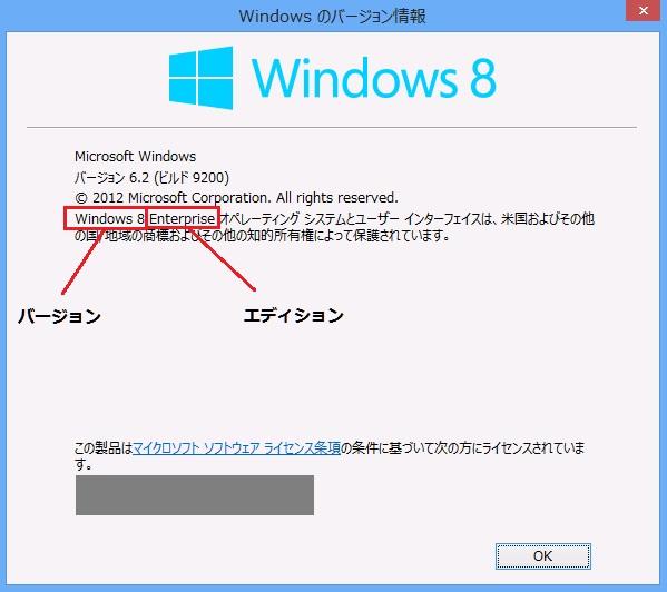 キャプチャ:Windows 8 表示されたダイアログボックス