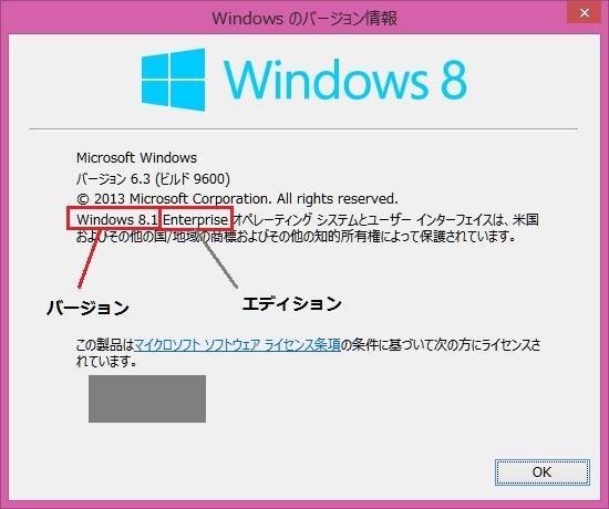 キャプチャ:Windows 8.1 表示されたダイアログボックス