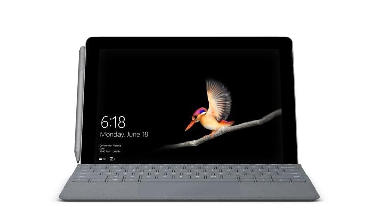 Surface Go 시그니처 타이핑 커버 및 Surface 펜이 장착된 Surface Go with LTE Advanced