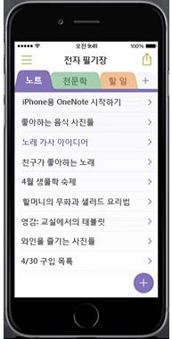 iPhone용 OneNote