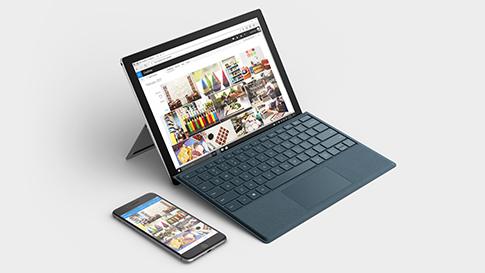 휴대폰과 Surface 장치 동기화.