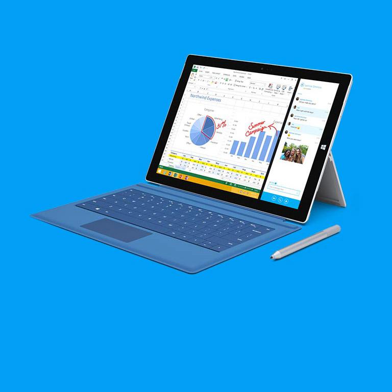 편리한 학교생활을 함께 만들 수 있는 Surface Pro 3 10% 할인.