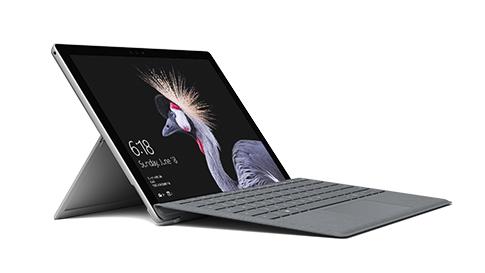 노트북 모드의 Surface Pro