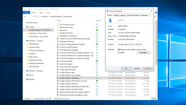 주문형 OneDrive 파일