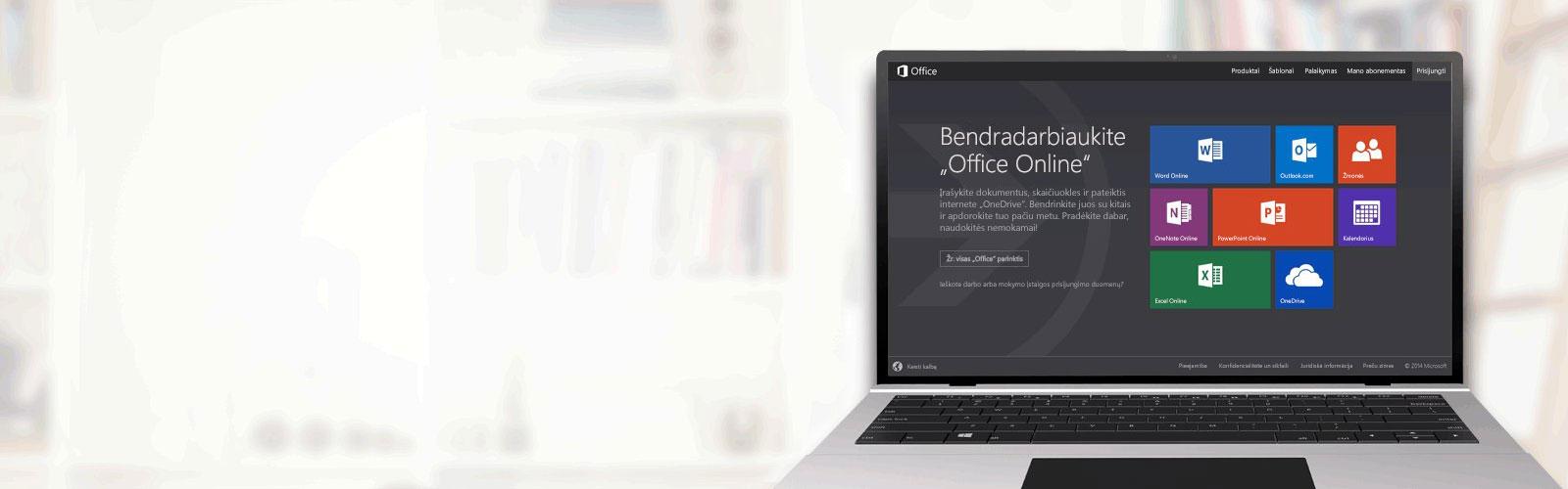 """Bendradarbiaukite """"Office Online"""""""